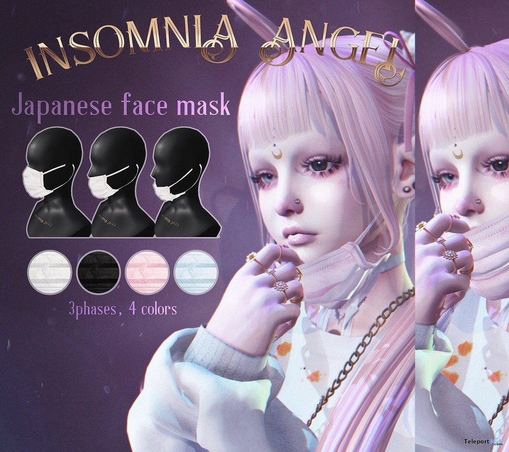 Japanese Face Mask Fatpack February 2019 Group Gift by Insomnia Angel - Teleport Hub - teleporthub.com