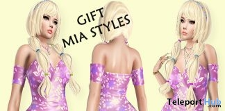 Flamingo Mini Dress February 2019 Group Gift by Mia Styles- Teleport Hub - teleporthub.com
