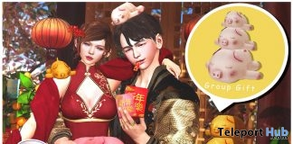 2019 Year of The Pig Doll X3 February 2019 Group Gift by Zenith- Teleport Hub - teleporthub.com
