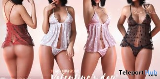 BabyDoll Valentine Dress Fatpack February 2019 Group Gift by SCANDALIZE- Teleport Hub - teleporthub.com