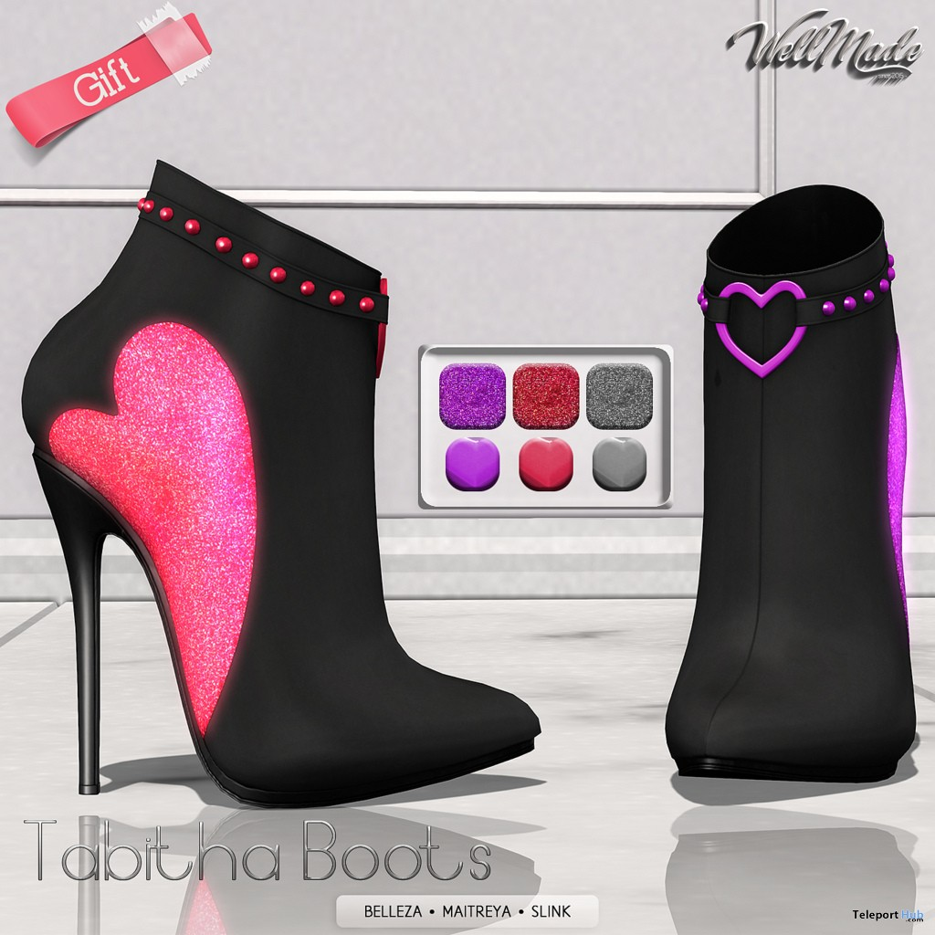 Tabitha Boots February 2019 Group Gift by [WellMade] - Teleport Hub - teleporthub.com