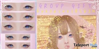 Buu Skin, Dream & K Eyelashes For Genus Mesh Head February 2019 Group Gift by Lv.100- Teleport Hub - teleporthub.com