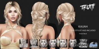 Kaijah Hair Fatpack With Style HUD Group Gift by TRUTH HAIR- Teleport Hub - teleporthub.com