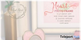 Heart Photo Frames February 2019 Group Gift by {what next} - Teleport Hub - teleporthub.com
