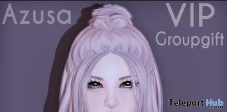 Azusa Hair February 2019 Group Gift by Ayashi - Teleport Hub - teleporthub.com