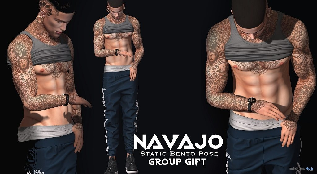 Watch Bento Pose February 2019 Group Gift by Navajo - Teleport Hub - teleporthub.com