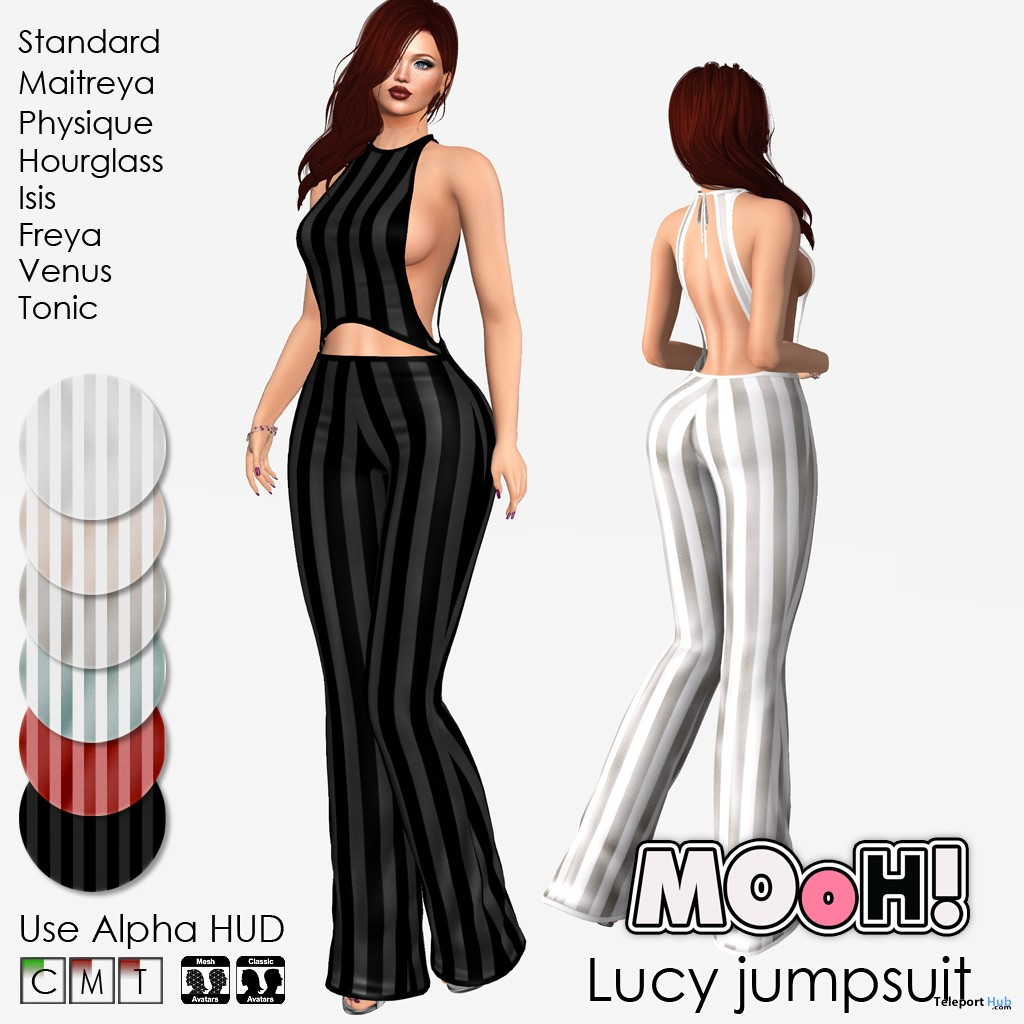 Lucy Jumpsuit Fatpack February 2019 Group Gift by MOoH! - Teleport Hub - teleporthub.com