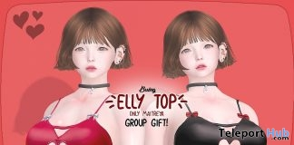 Elly Top Black & Red February 2019 Group Gift by BUING- Teleport Hub - teleporthub.com