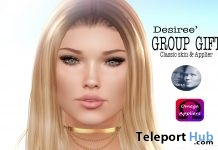 Desiree Classic Skin & Omega Genus Head Applier February 2019 Group Gift by WOW Skins - Teleport Hub - teleporthub.com