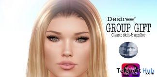 Desiree Classic Skin & Omega Genus Head Applier February 2019 Group Gift by WOW Skins- Teleport Hub - teleporthub.com