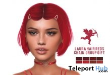 Laura Hair Reds February 2019 Group Gift by CHAIN - Teleport Hub - teleporthub.com