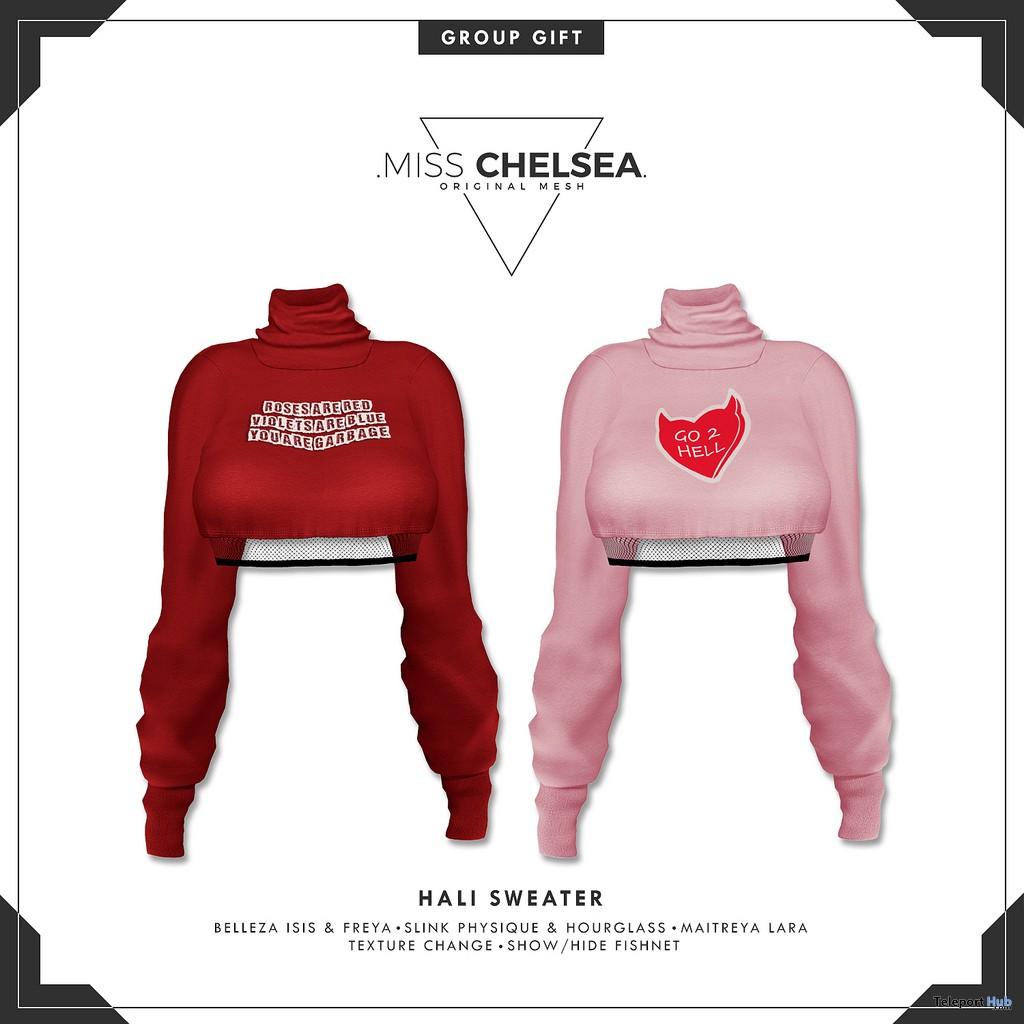 Hali Sweater February 2019 Group Gift by Miss Chelsea- Teleport Hub - teleporthub.com