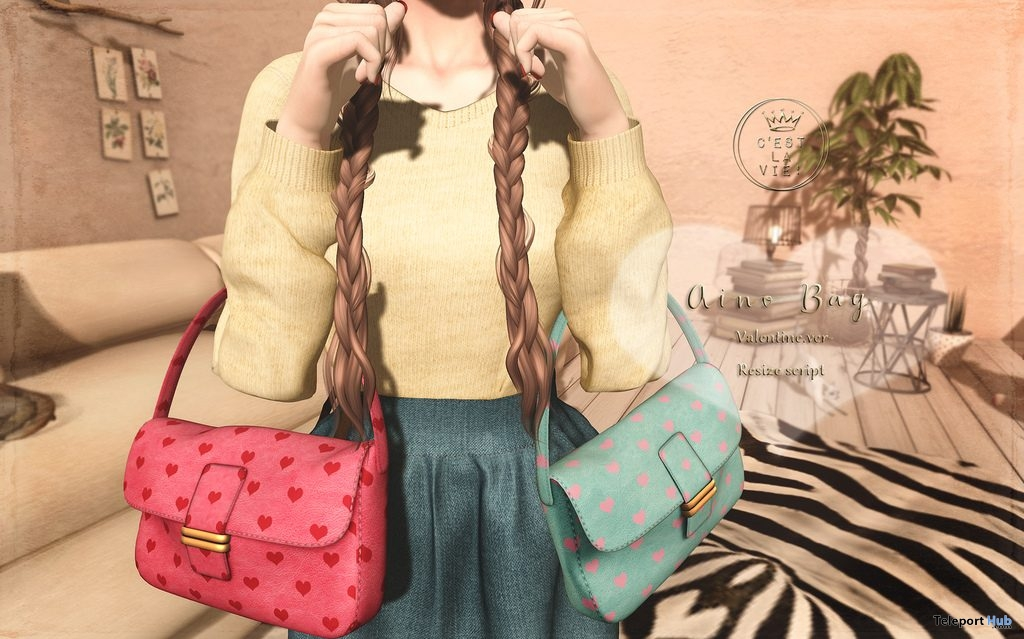 Aino Bag Valentine Edition February 2019 Group Gift by C'est la vie! - Teleport Hub - teleporthub.com