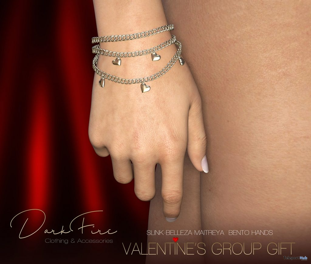 Heart Bracelet February 2019 Group Gift by DarkFire- Teleport Hub - teleporthub.com
