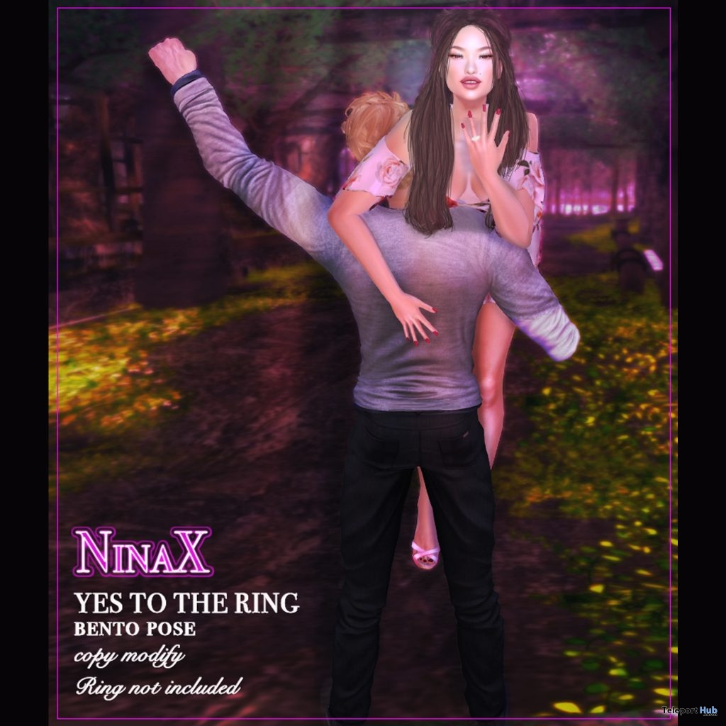 Say Yes To The Ring Couple Bento Pose February 2019 Group Gift by NinaX - Teleport Hub - teleporthub.com