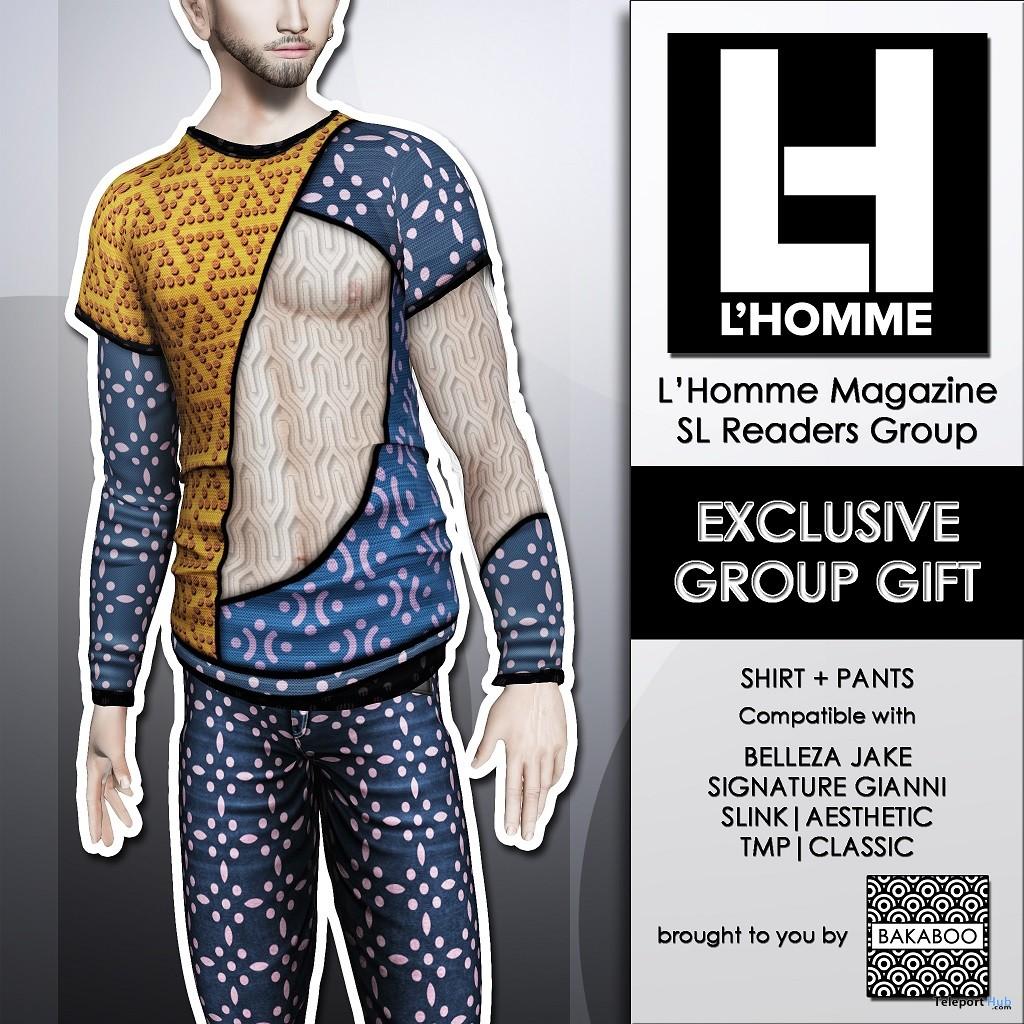 David Shirt and Pants L'HOMME Magazine February 2019 Group Gift by Bakaboo - Teleport Hub - teleporthub.com