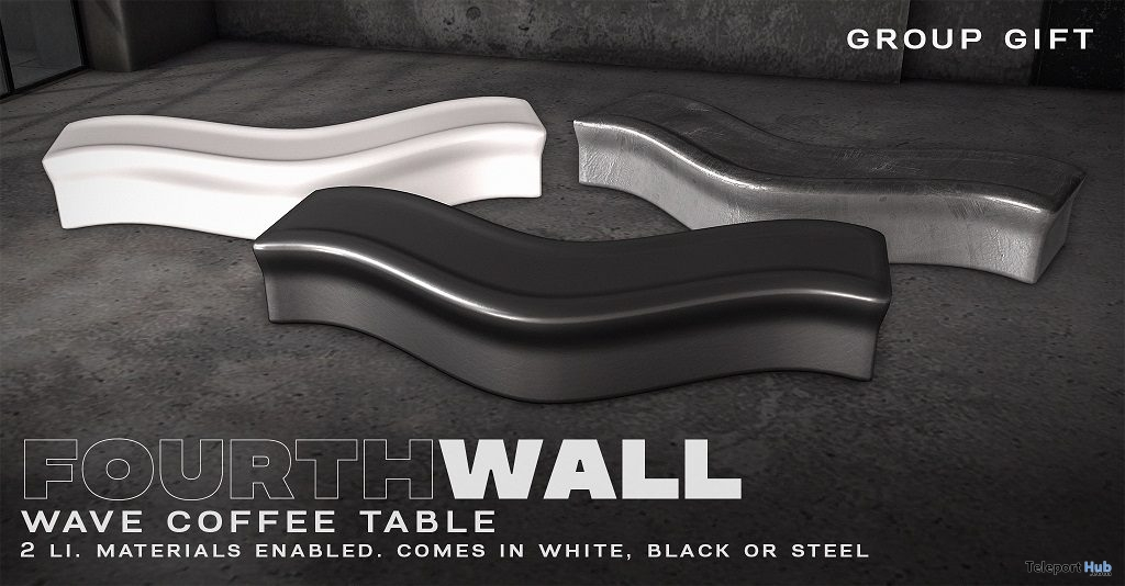 Wave Coffee Table February 2019 Group Gift by Fourth Wall- Teleport Hub - teleporthub.com