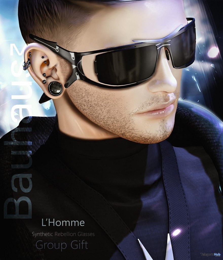Synthetic Rebellion Glasses L'HOMME Magazine February 2019 Group Gift by Bauhaus Movement - Teleport Hub - teleporthub.com