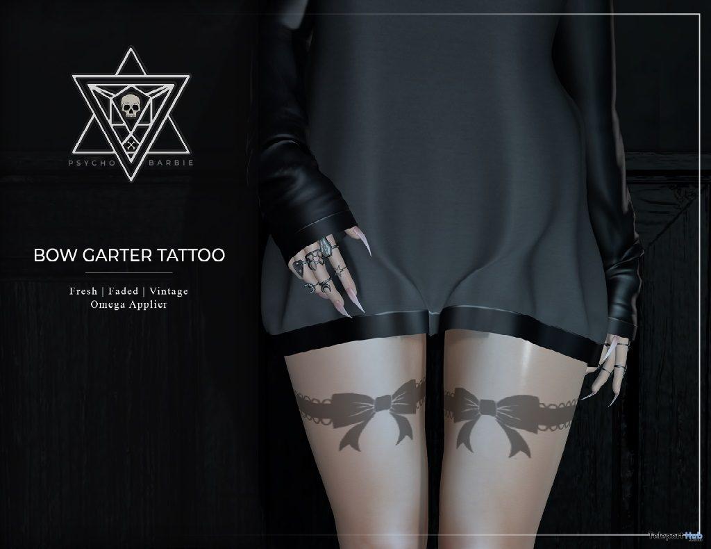 Bow Garter Tattoo February 2019 Group Gift by Psycho Barbie- Teleport Hub - teleporthub.com