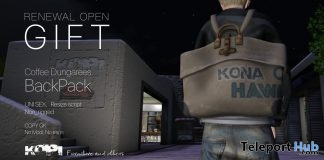 Coffee Dungarees Backpack February 2019 Gift by KOPI - Teleport Hub - teleporthub.com