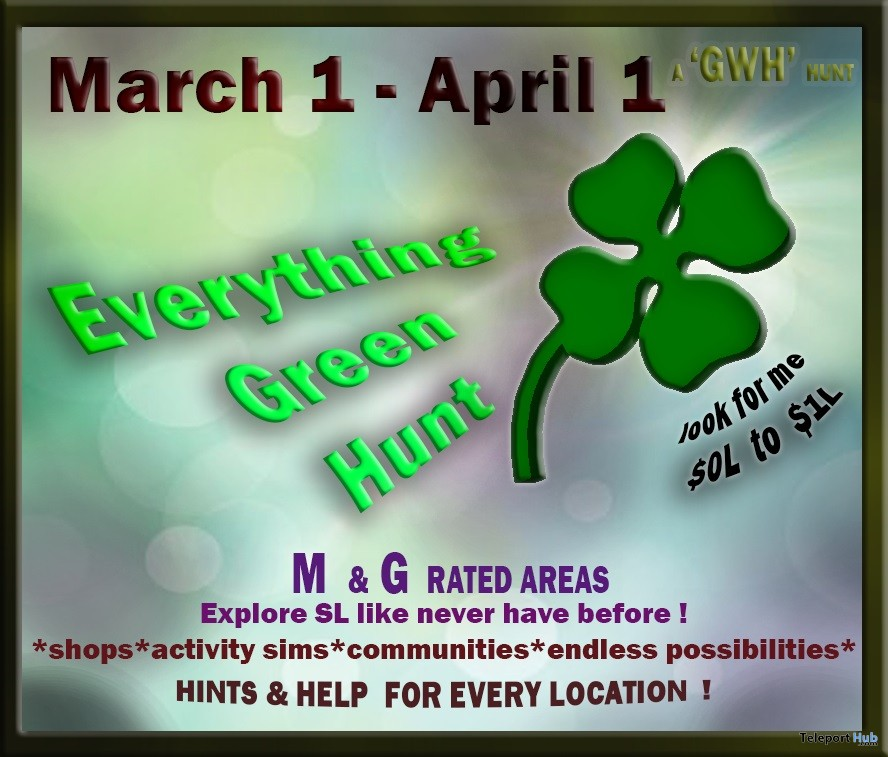 GWH Everything Green Hunt 2019- Teleport Hub - teleporthub.com