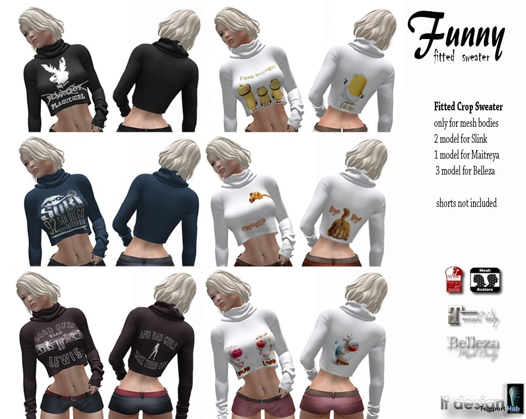 Funny Sweater Fatpack February 2019 Group Gift by [lf design] - Teleport Hub - teleporthub.com