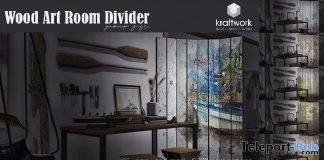Wood Art Room Divider March 2019 Group Gift by KraftWork- Teleport Hub - teleporthub.com