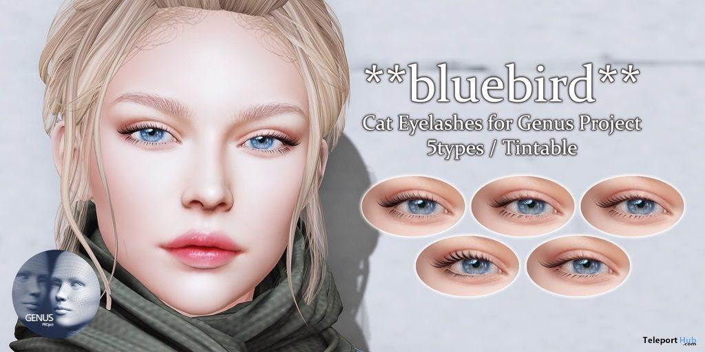 Cat Eyelashes for Genus Mesh Head 90L Promo by bluebird- Teleport Hub - teleporthub.com