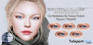 Cat Eyelashes for Genus Mesh Head 90L Promo by bluebird - Teleport Hub - teleporthub.com