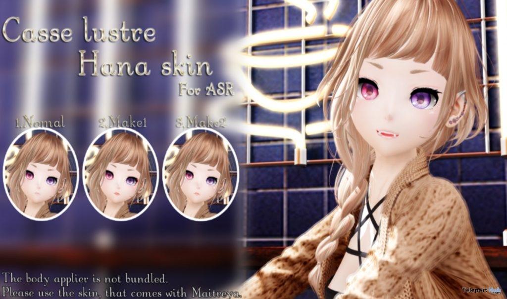 "Hana Skin For ASR February 2019 Gift by Casse Lustre @ FREEBIES ""F"" Store- Teleport Hub - teleporthub.com"