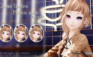 "Hana Skin For ASR February 2019 Gift by Casse Lustre @ FREEBIES ""F"" Store - Teleport Hub - teleporthub.com"