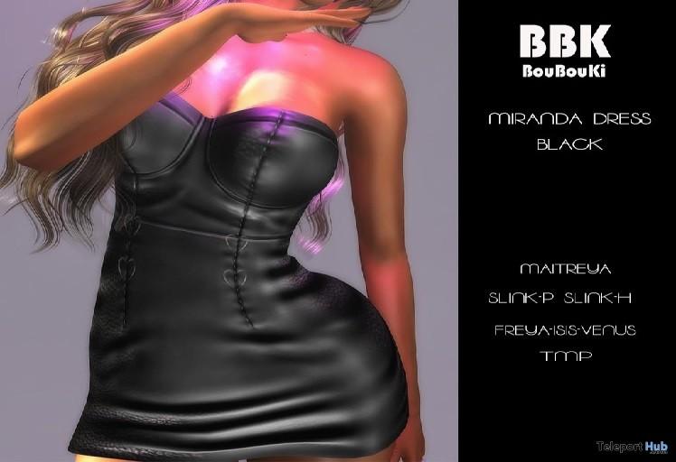 Miranda Dress Black February 2019 Group Gift by BouBouKi- Teleport Hub - teleporthub.com