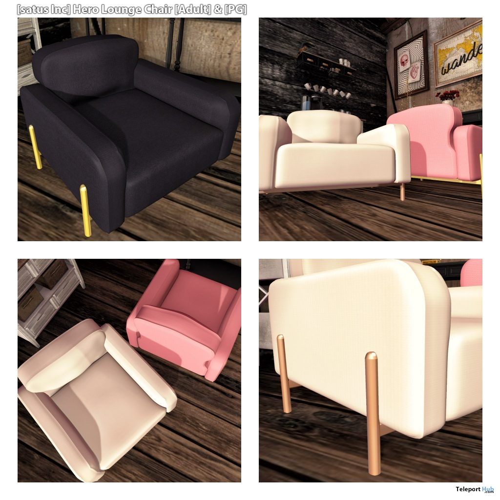 New Release: Hero Lounge Chair by [satus Inc] - Teleport Hub - teleporthub.com