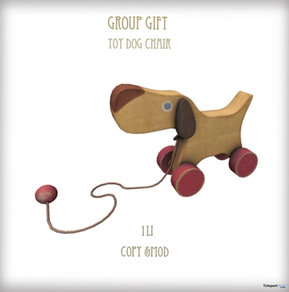 Toy Dog Chair February 2019 Group Gift by D-LAB- Teleport Hub - teleporthub.com