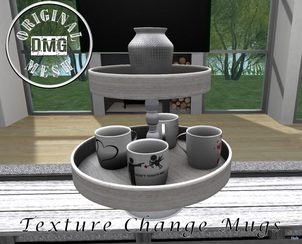 Mag Stand With A Vase February 2019 Group Gift by DMG Original Mesh - Teleport Hub - teleporthub.com