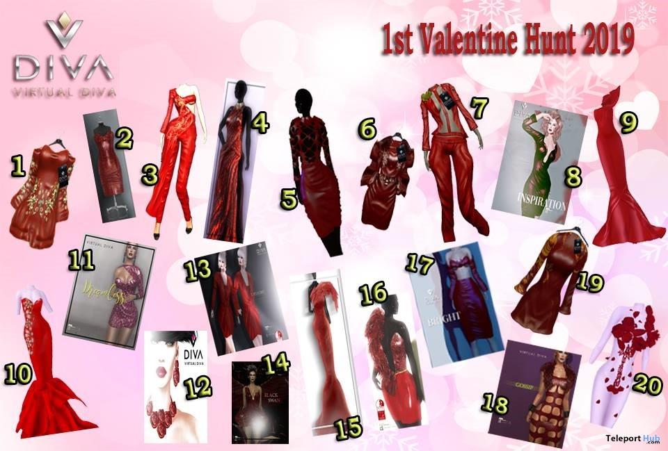 Virtual Diva Couture's Valentine Hunt 2019- Teleport Hub - teleporthub.com