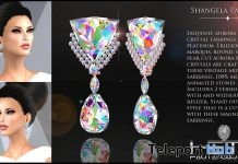 Shangela Earrings AB Crystals International Women's Day 2019 Gift by HETH Haute Couture- Teleport Hub - teleporthub.com