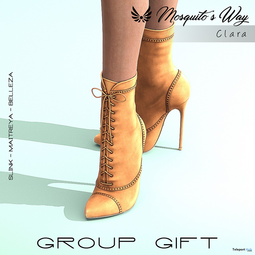 Clara Heel Boots March 2019 Group Gift by Mosquito's Way - Teleport Hub - teleporthub.com