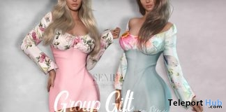 Lyna Dress March 2019 Group Gift by Seniha Originals - Teleport Hub - teleporthub.com