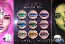 Atlantis Lipstick Pack March 2019 Group Gift by Elemental - Teleport Hub - teleporthub.com