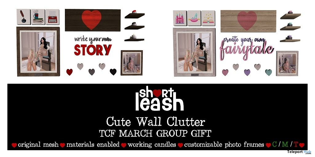 Cute Wall Clutter The Chapter Four Event March 2019 Group Gift by Short Leash- Teleport Hub - teleporthub.com