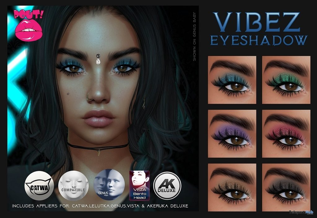 Vibez Eyeshadow March 2019 Group Gift by POUT! - Teleport Hub - teleporthub.com