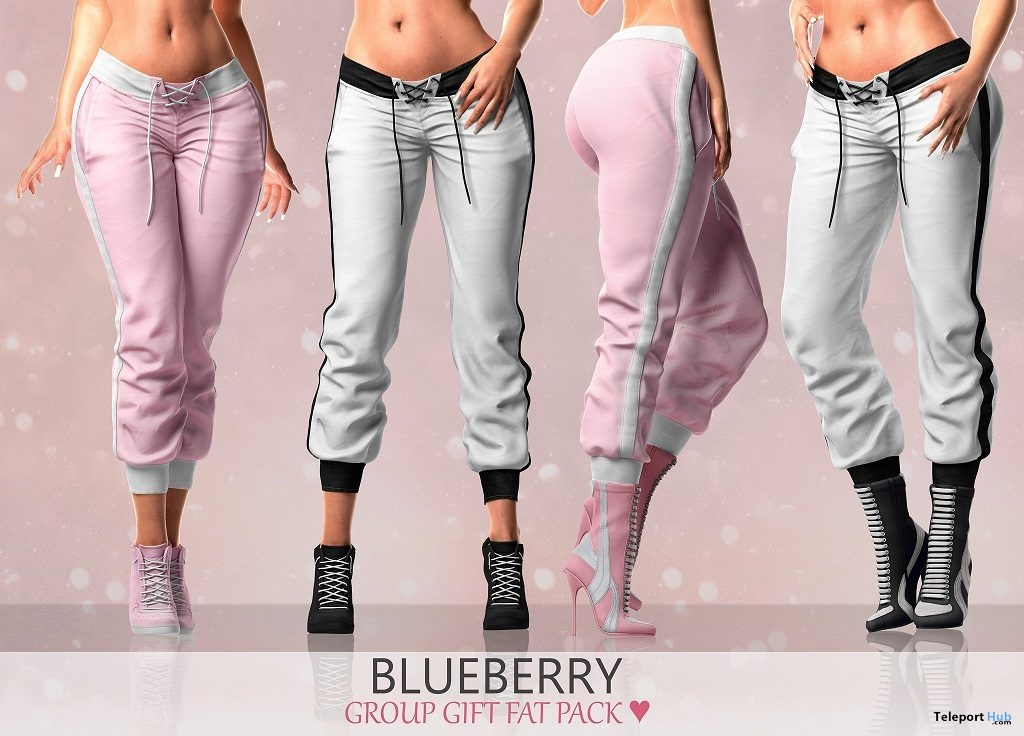 Jogger Pants Fatpack March 2019 Group Gift by Blueberry - Teleport Hub - teleporthub.com