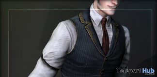 Jasper's Waistcoat Sauvagess L'HOMME Magazine March 2019 Group Gift by ContraptioN- Teleport Hub - teleporthub.com
