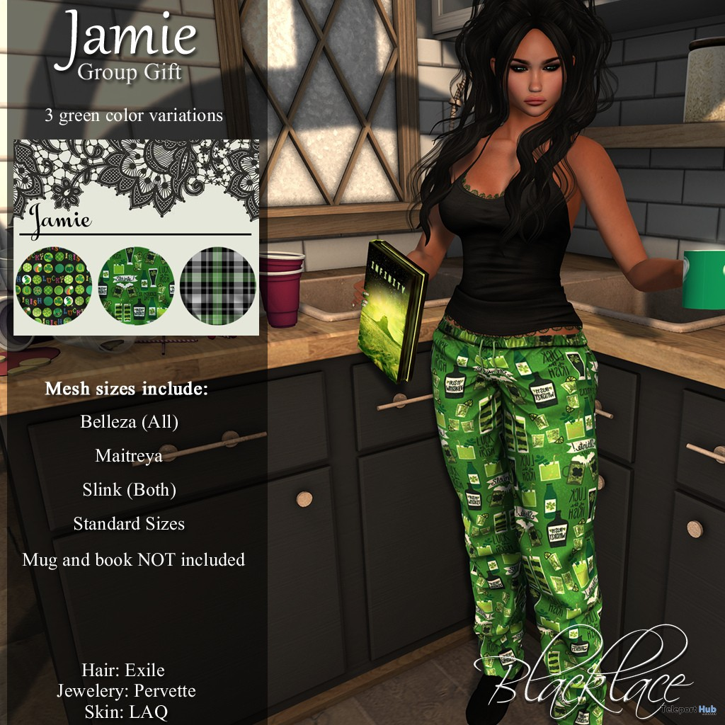 Jamie Outfit March 2019 Group Gift by Blacklace- Teleport Hub - teleporthub.com