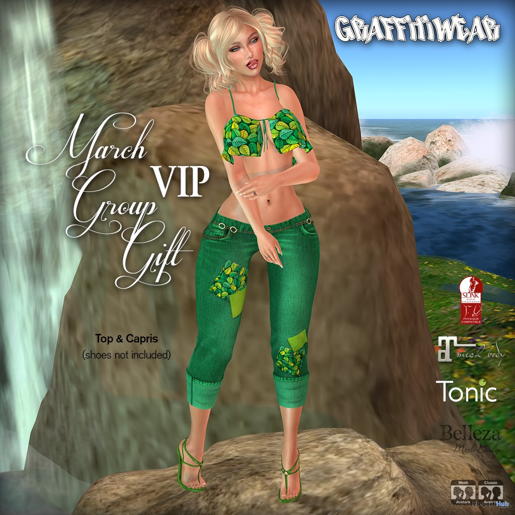 Top & Capris March 2019 Group Gift by Graffitiwear- Teleport Hub - teleporthub.com