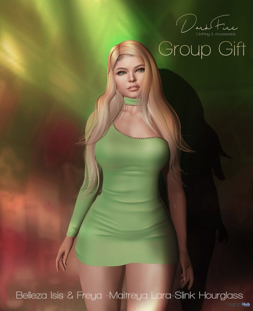 St. Patrick's Day One Shoulder Dress March 2019 Group Gift by DarkFire- Teleport Hub - teleporthub.com
