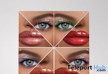 Wet Make-up Pack For Catwa & Genus Heads March 2019 Group Gift by The Face - Teleport Hub - teleporthub.com