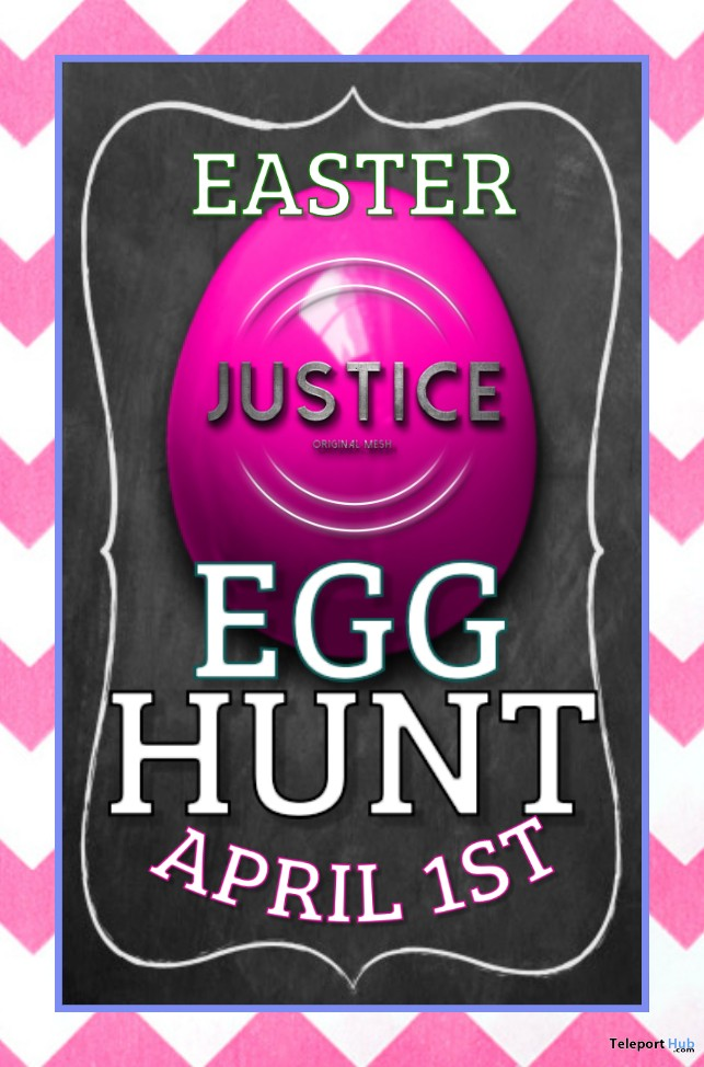 Justice's Easter Egg Hunt 2019- Teleport Hub - teleporthub.com