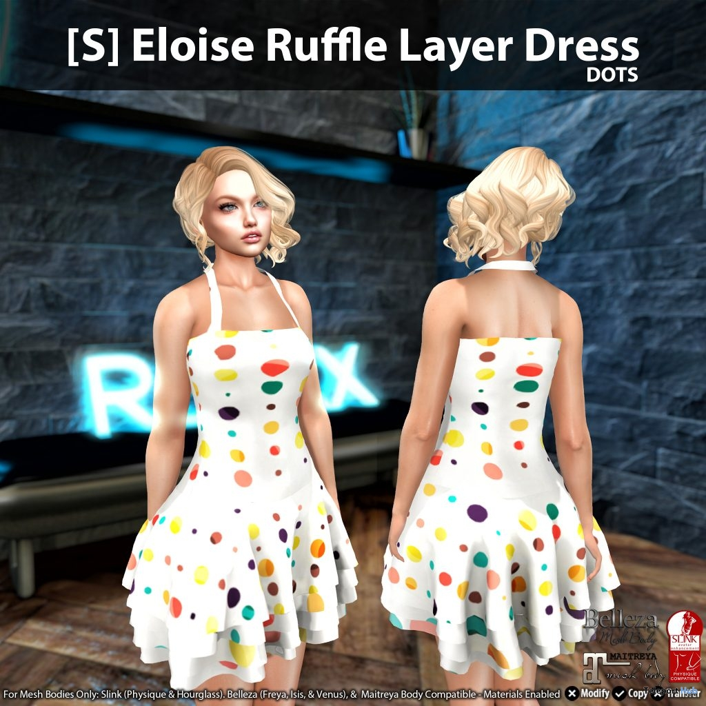 New Release: [S] Eloise Ruffle Layer Dress by [satus Inc] - Teleport Hub - teleporthub.com